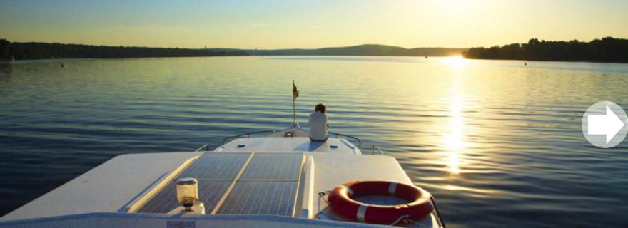 Hausboot_Deutschland_Sonnenuntergang