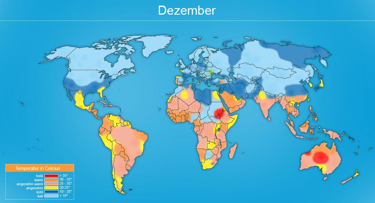 Klimakarte Dezember