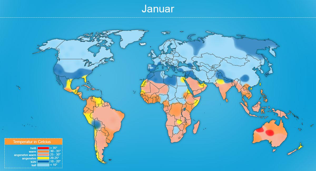 Klimakarte Januar