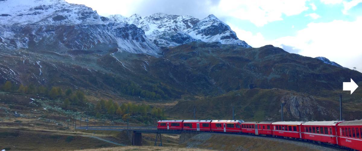 Zugreise Schweiz.