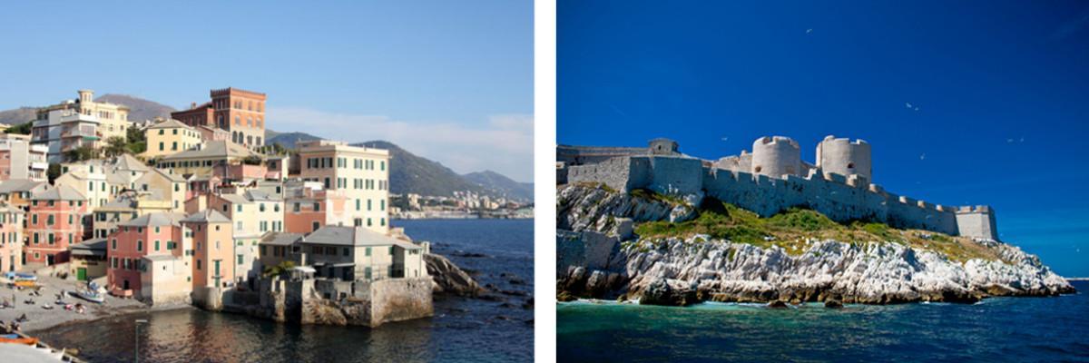 Genua und Marseille