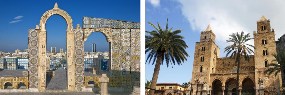 Tunis und Palermo
