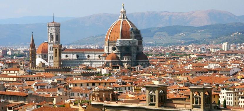 Toller Ausblick: Die Piazzale Michelangelo in Florenz
