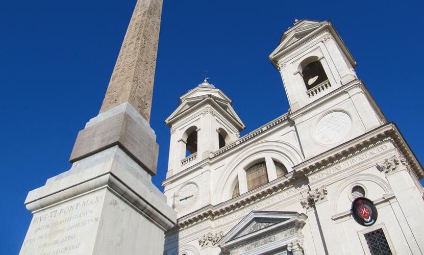 Ein populärer Schnappschuss in Rom: Santa Trinità dei Monti