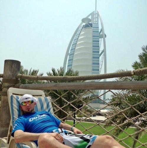 Relaxen mit Aussicht auf das 7* Hotel Burj Al Arab