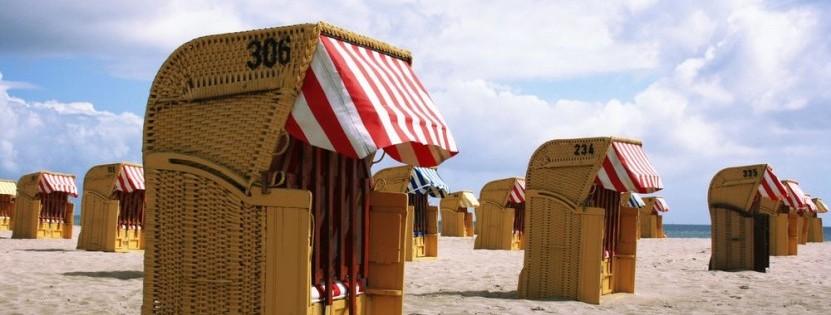 Typisch deutsch: Strandkörbe an der Ostsee