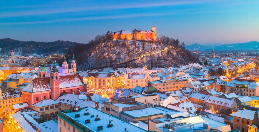 Ljubljana im Winter