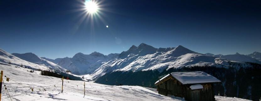 Panoramablick im Skigebiet