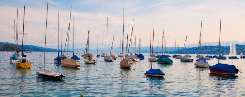 Abkühlung in der Stadt: der Zürichsee