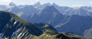 Sicht auf die Alpen