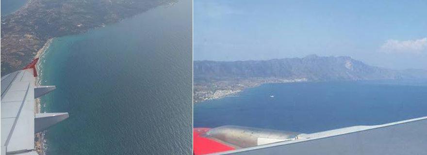 Landeanflug: Kos von oben