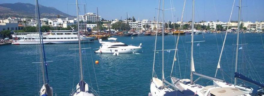 Wo Land und Meer aufeinander trifft - Hafen auf Kos