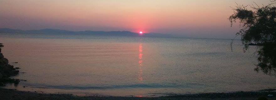 Sonnenaufgang direkt vor der Tür