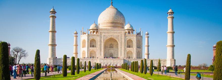 Wahrzeichen in Indien: Taj Mahal