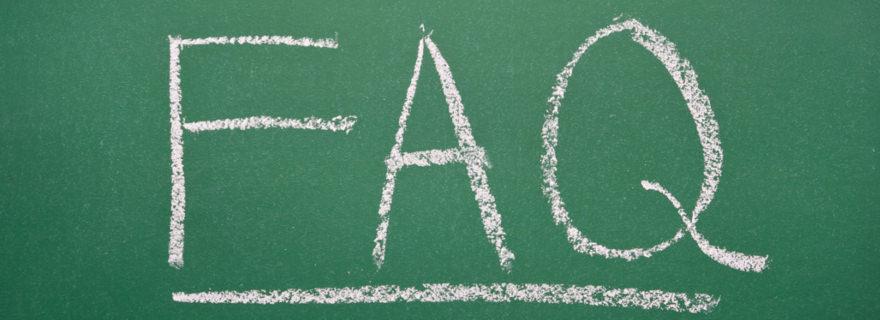 FAQ: die häufigsten Fragen