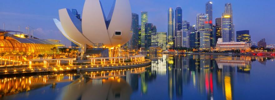Abends in Singapur
