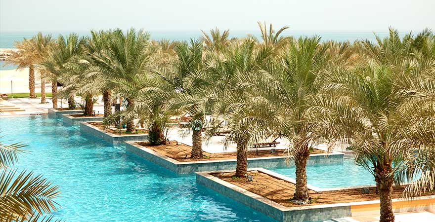 Hotelpool in Ras al khaimah