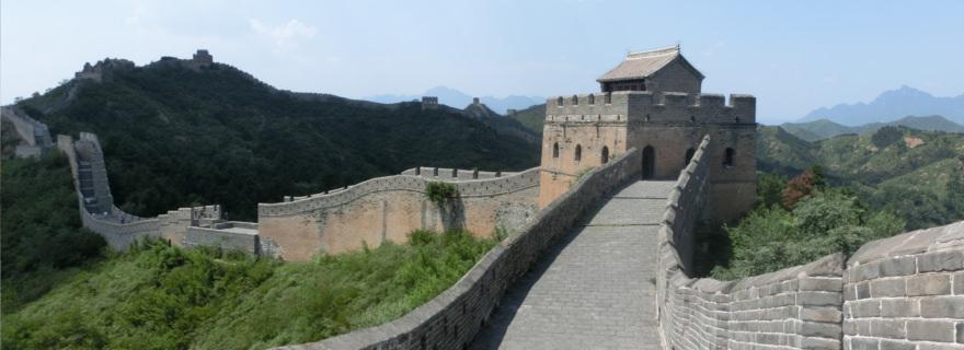 chinesischer Mauer bei Jinshaling