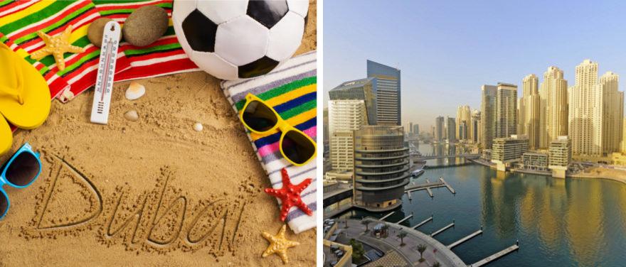 EM 2016 in Dubai am Strand