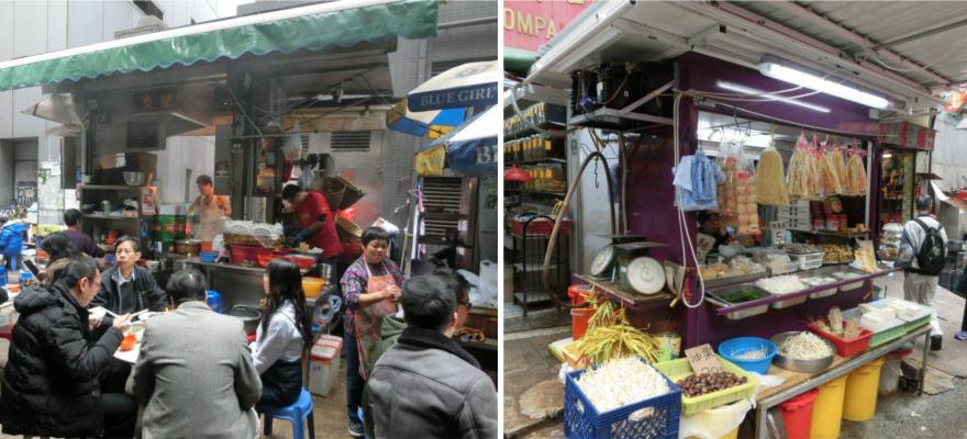 Essens-Markt in Hongkong