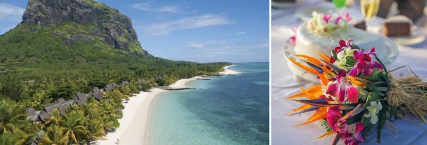 Mauritius und Hochzeitstorte