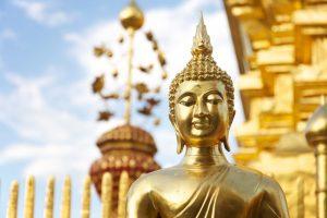 Chiang Mai Buddha Statue Urlaub Thailand