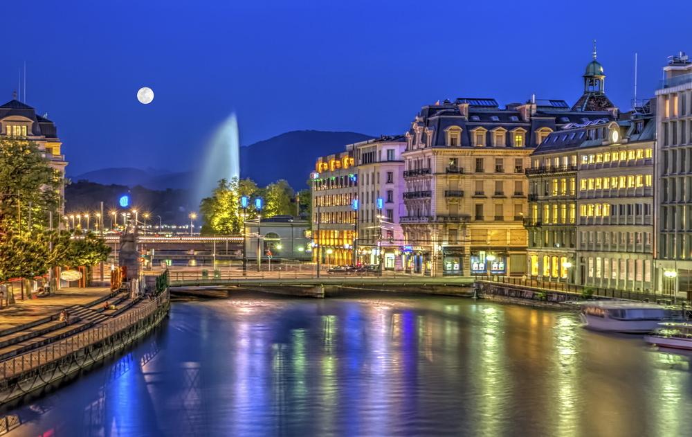 Genf bei Nacht
