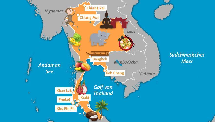 Thailand Karte.Thailand Karte Der Fti Reiseblog