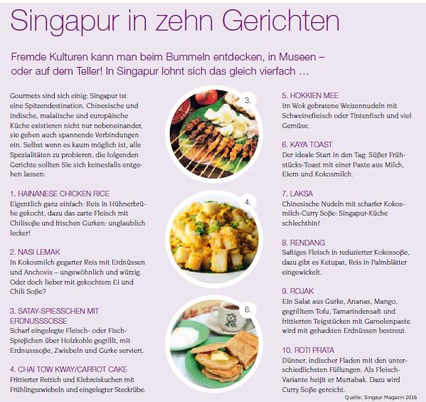 Kulinarik in Singapur