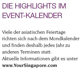 Eventkalender Singapur