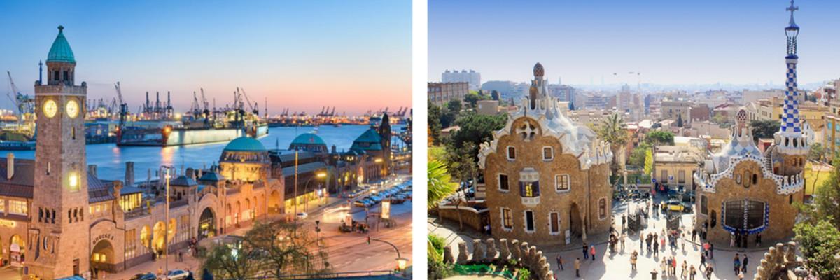 Städte: Hamburg und Barcelona