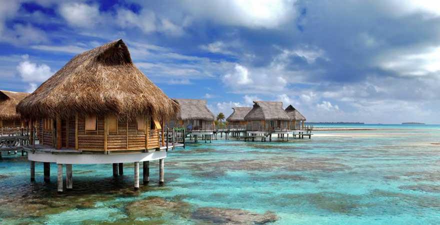 Bungalow auf den Malediven