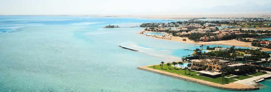 Blick auf die Lagunenstadt El Gouna