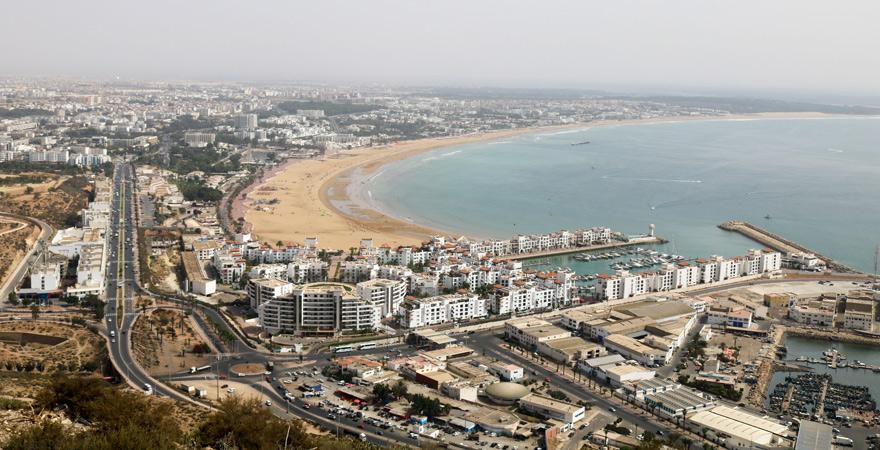 Agadir von oben, Marokko