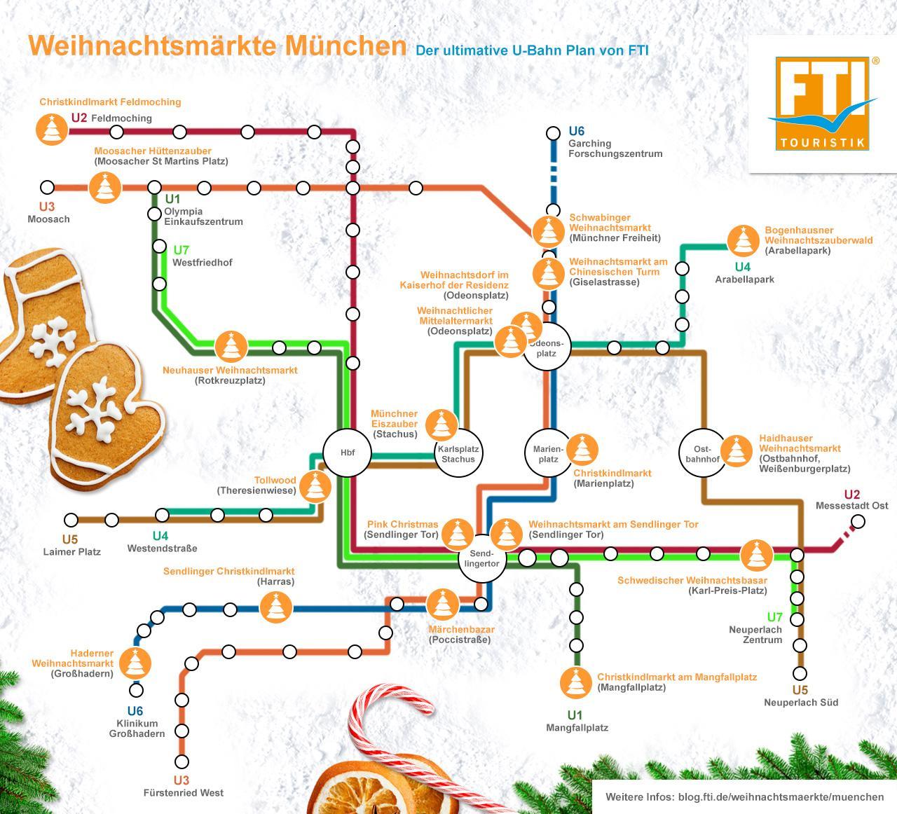 München Weihnachtsmarkt.Der U Bahn Weihnachtsmarkt Fahrplan München Fti Reiseblog
