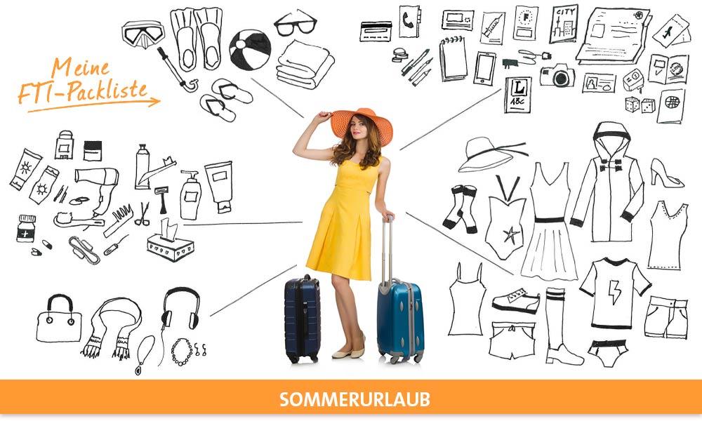 Packliste Sommerurlaub