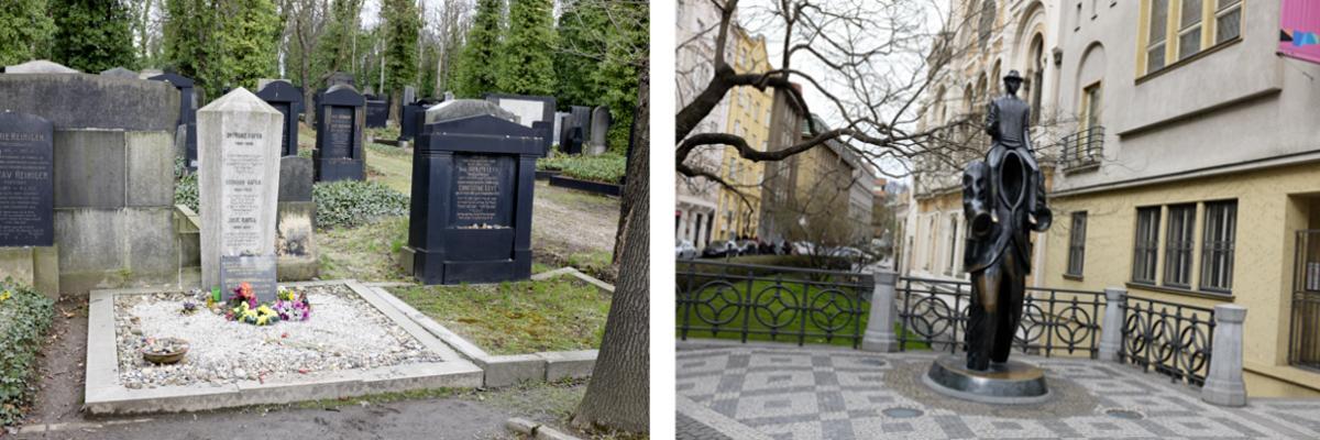 Prag: Der jüdische Friedhof und das Franz Kafka Denkmal