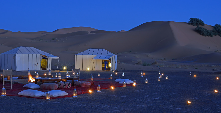 Trip to the desert camp in Morocco