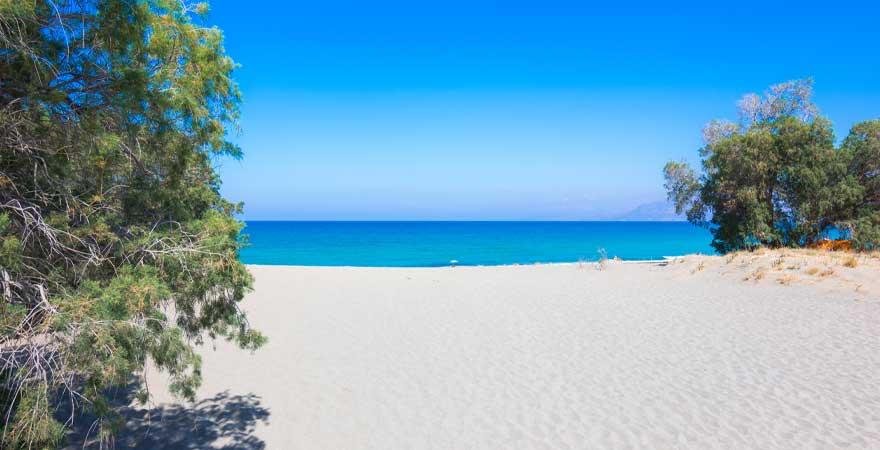 komos beach auf kreta