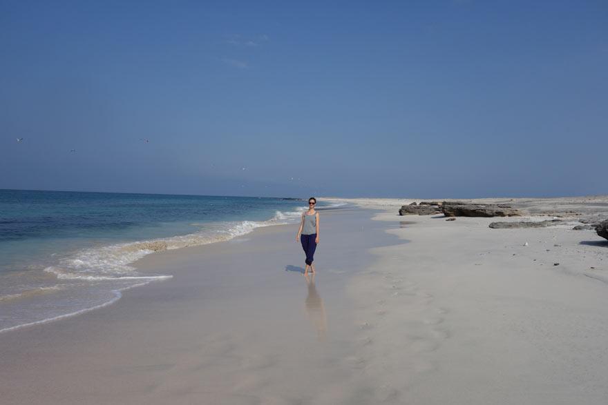 Sandstrand im Oman
