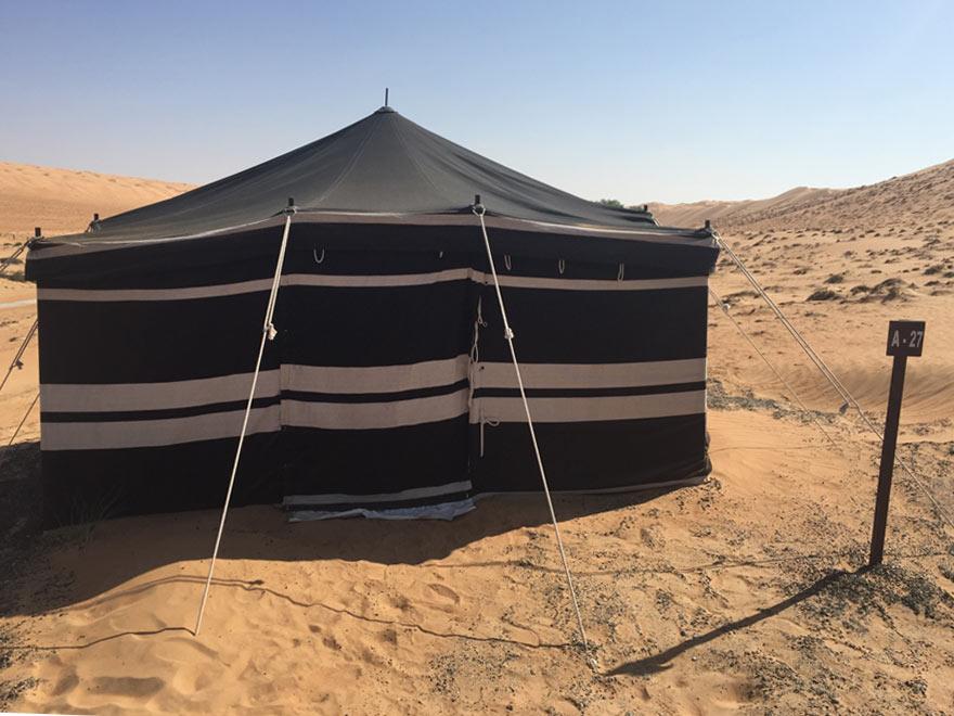 Zelt im Wüsten Camp