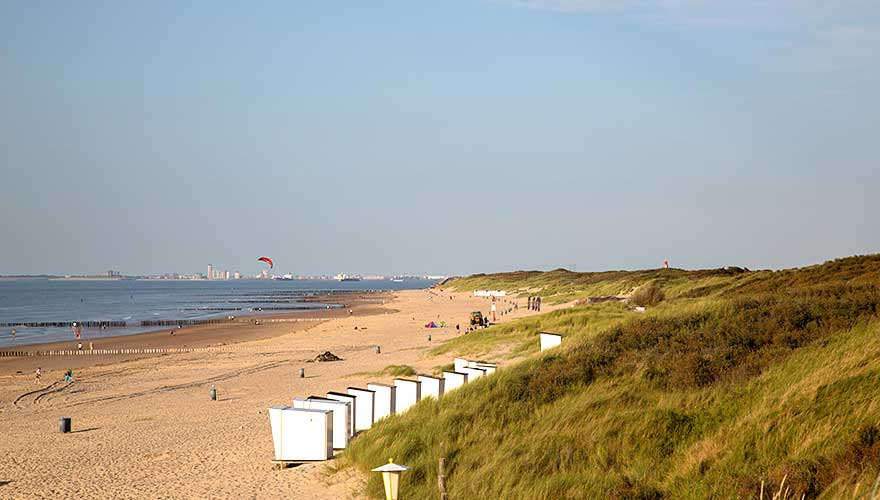 Strand in Cadzand, holland