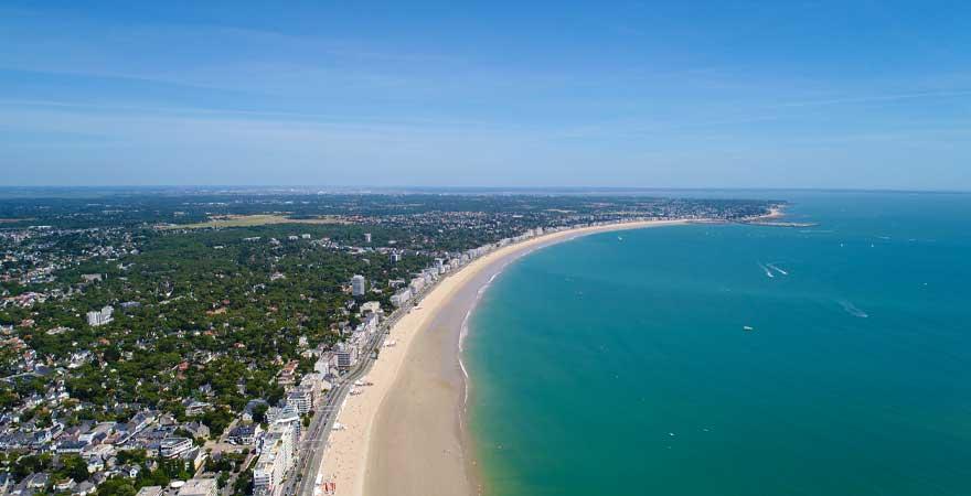 Lau Baule Strand in Frankreich