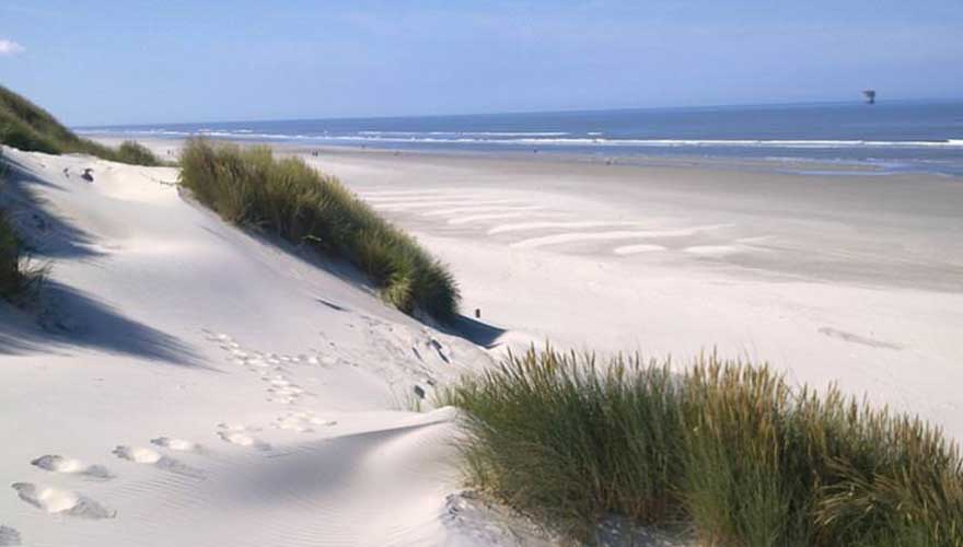 Strand in Terschelling, holland