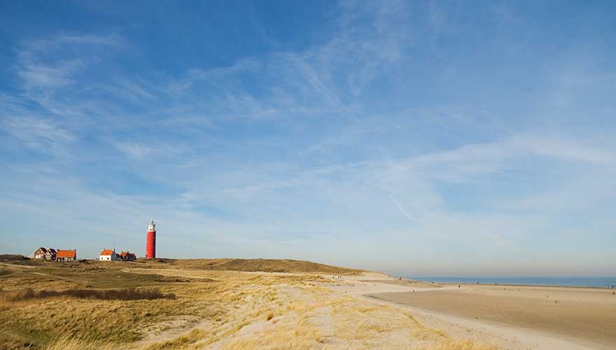 Strand in Texel, holland