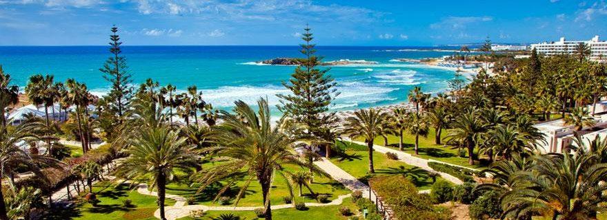 Blick auf die Küste von zypern