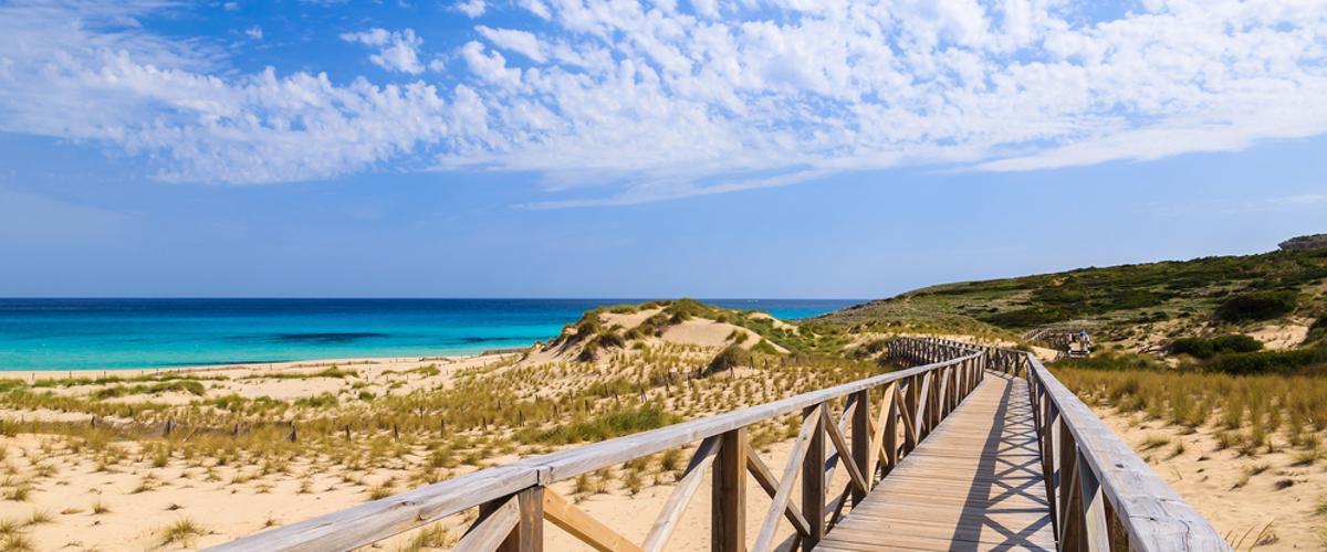 Schöne Sandstände auf Mallorca