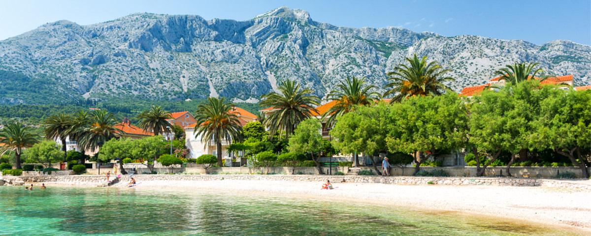 Strand von Orebic in Kroatien