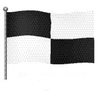 Bedeutung schwarz-weiße Flagge