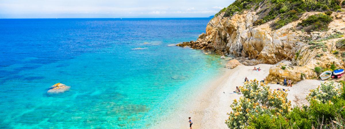 Strand auf der Insel Elba
